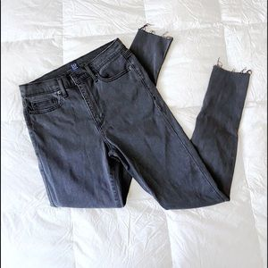 High Waisted Frayed Jeans (NWOT)